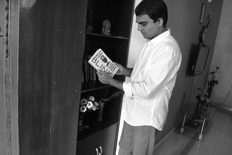 Naveen Reading Book
